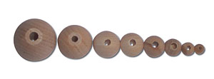 Unvarnished Wood Beads